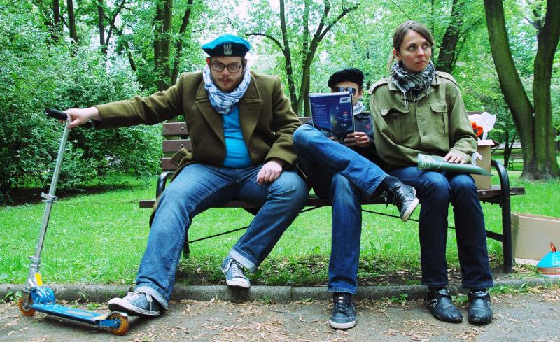 Od lewej: Piotr Lipski, Vojislav Radojičić, Joanna Ufnalska z Departamentu Gier. Fot. Anna Jędrzejak