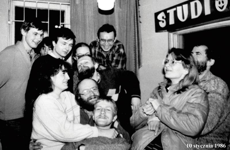 Studio Radia Żak dawniej - 1986, fot. Archiwum Radia Żak