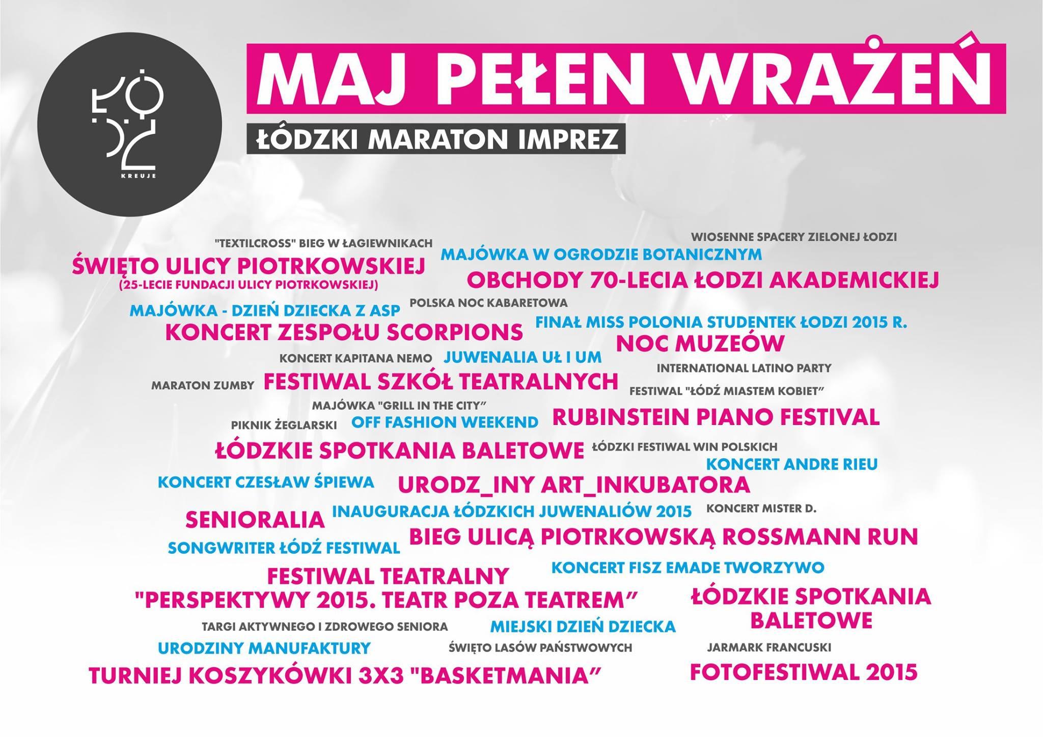 Łódzkie wydarzenia - maj 2015, fot. Urząd Miasta Łodzi