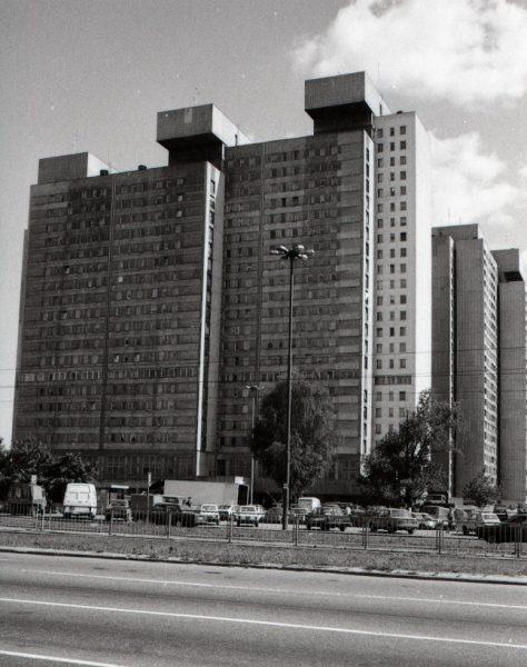 Zdjęcie z kolekcji Edwina Dekkera, holenderskiego architekta, który studiował w Łodzi na początku lat 90. Źródło: www.miastograf.pl