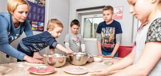 Zajęcia dla dzieci w pizzeri Fiero! Fot. Ewa Szmitka
