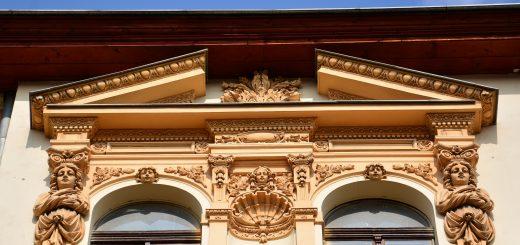 Detal z kamienicy przy ul. Traugutta 12. Fot. Maria Nowakowska