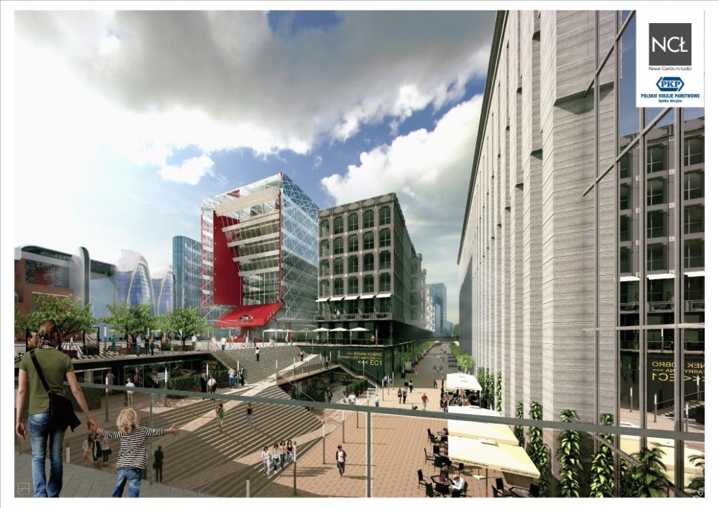 Wizualizacja Nowego Centrum Łodzi. Informacja prasowa z maja 2015 r. Źródło: www2.deloitte.com